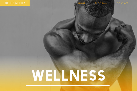 Wellness concept with background