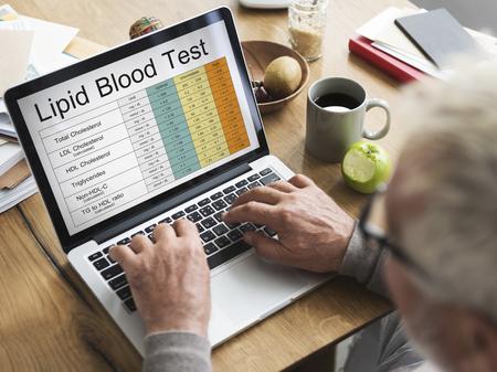 medical laboratory: Blood Cholesterol Report Test Healthcare