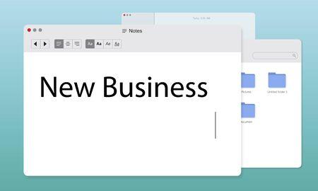 New Business Venture Entrepreneur Concept Фото со стока