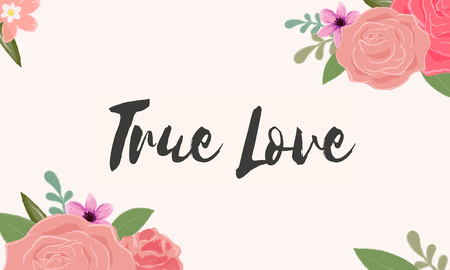 True Love Letter Message Words Graphic