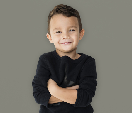 A little boy is really confidence Stock Photo - 78613964