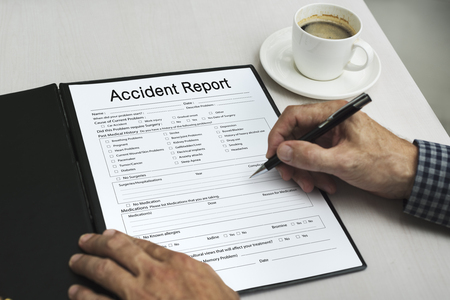 Accident Injury Information Report Health Stock Photo