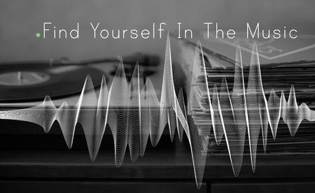 音楽は生活療法ハーモニー単語です。 写真素材