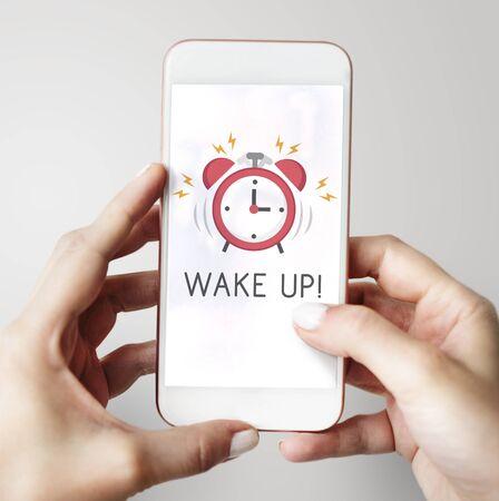 La notification d'alarme du téléphone portable pour un rendez-vous important Banque d'images - 78680104