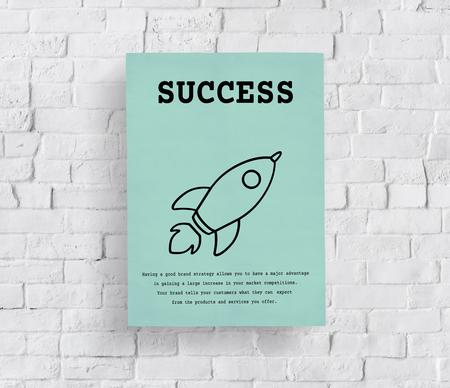 Rocket Launch Spaceship Icon Innovation Фото со стока