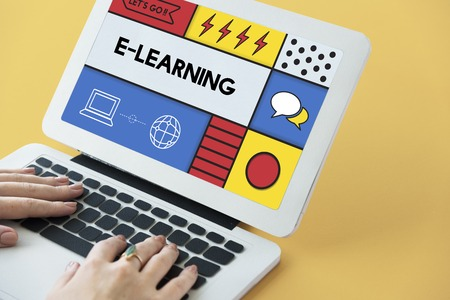 E-learning Education Internet Study Concept Stok Fotoğraf