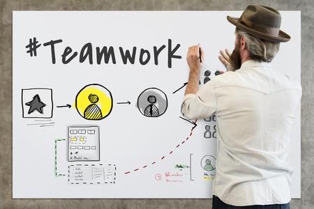 Teamwork Collaboration Organization Brainstorming Goals Zdjęcie Seryjne - 78658364