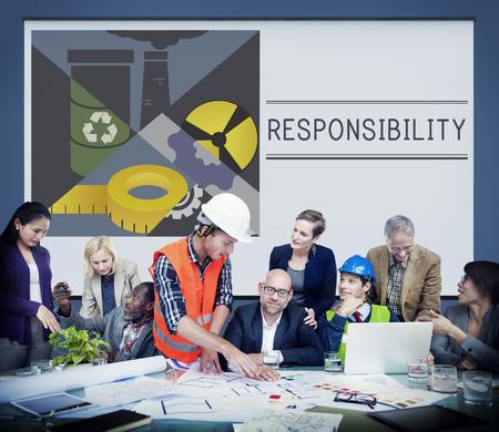 책임 중요성 일러스트레이션 개념