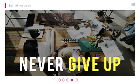 fails: Never give up phrase quote overlay