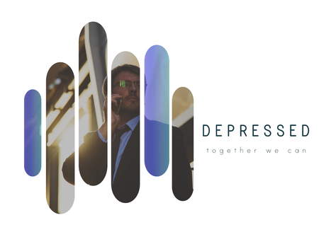 Depressed Emotion Feelings Business Guy Stock Photo