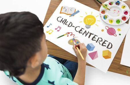 Childrean Learning Nurture Graphic Icon Symbol