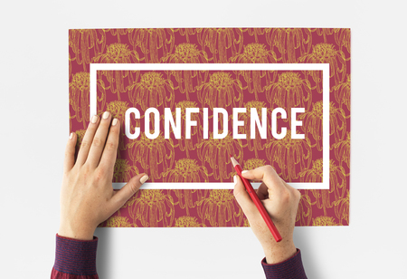 Inspire Lifestyle Confidence Red Flowers Stock Photo