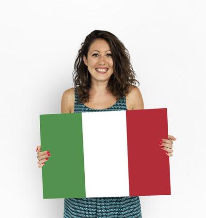 Green white red Italian flag