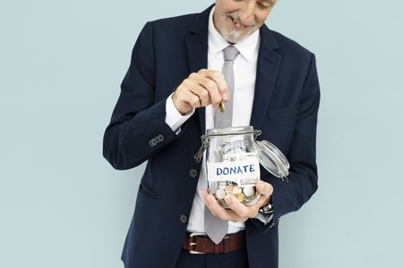 Man with donating concept 写真素材