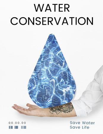 Concept de goutte de conservation du recyclage de l'eau Banque d'images - 78766405