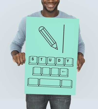 Illustration of insight education keyboard typing Stock fotó