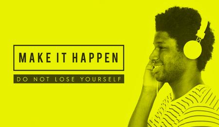 Make It Happen Motivation Support Word