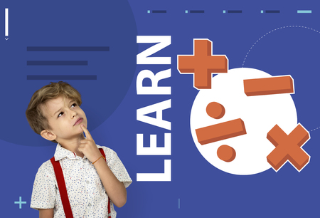 ability to speak: Student solving mathematics solution lessons Stock Photo