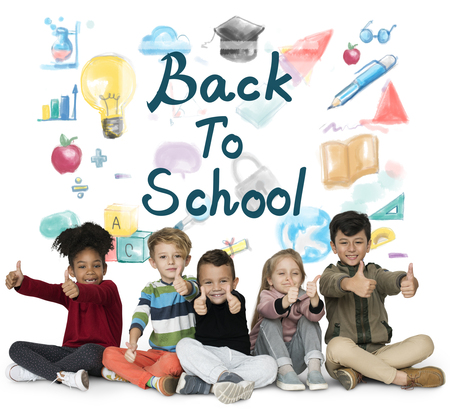 Kids Back To School Education Study Graphic Stock Photo