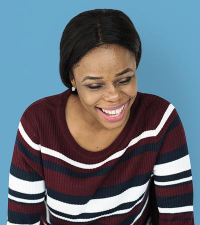 Woman Portrait Smiling Laughing Emotional