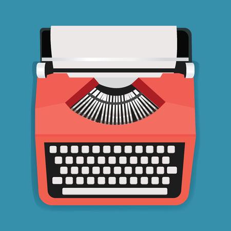 レトロ タイプライター マシン アイコン イラスト