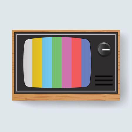 Retro Television TV Entertainment Media Icon Illustration Vector Ilustração