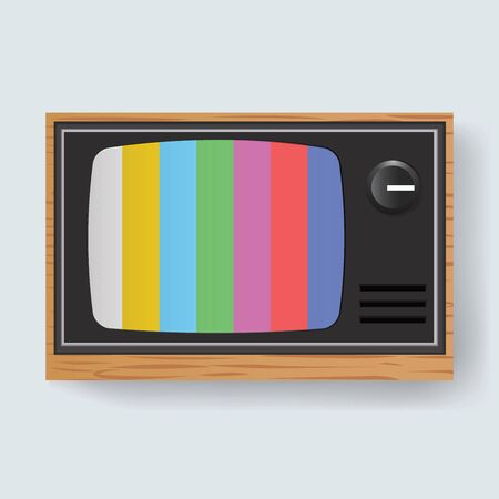 Retro Television TV Entertainment Media Icon Illustration Vector Illustration