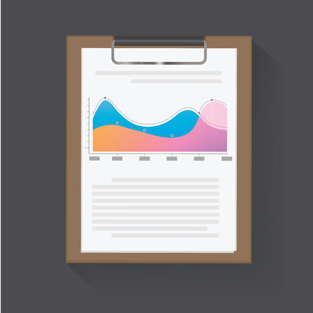 ダッシュ ボードの統計グラフ ベクトル図