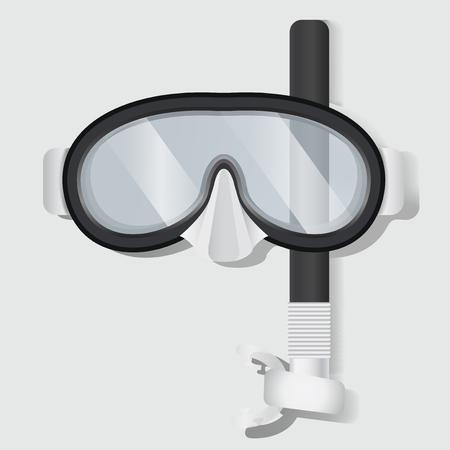 Snorkeling Scuba Mask Diving Equipment Vector Illustration