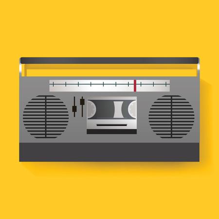 レトロなラジオのエンターテイメント メディア アイコン イラスト 写真素材 - 78789304