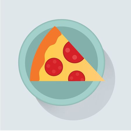 Pizza slice icon vector illustration