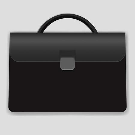 Briefcase business bag vector icon