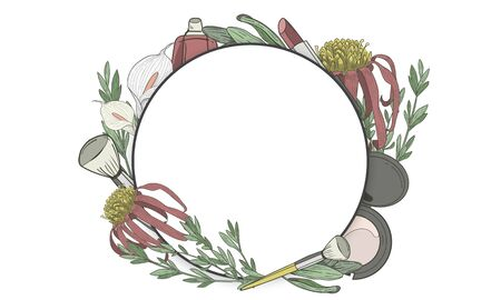 Copy space floral empty frame Zdjęcie Seryjne