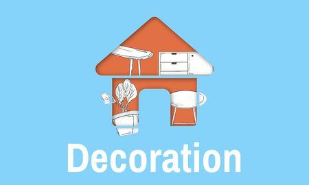 アパート自宅スペースの装飾の革新スタイル 写真素材