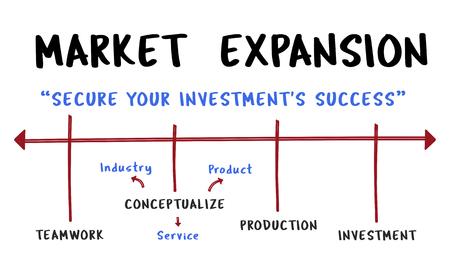 Developement Market Expansion Merchandising Icon Фото со стока