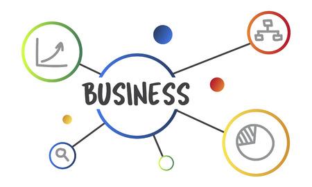 Concept de diagramme de démarrage nouvelle entreprise illustration Banque d'images - 78961655