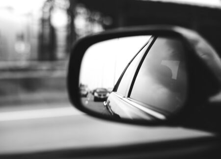 car mirror reflection photography. backwards car: mirror car automotive viewer vehicle stock photo reflection photography