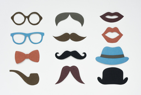 Men hipster icon collection set graphic