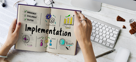 Business Implementation Process Workflow Stockfoto - 78966828