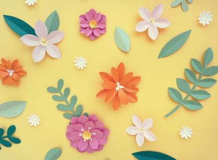 手作りの花デザイン ペーパー クラフト アート 写真素材