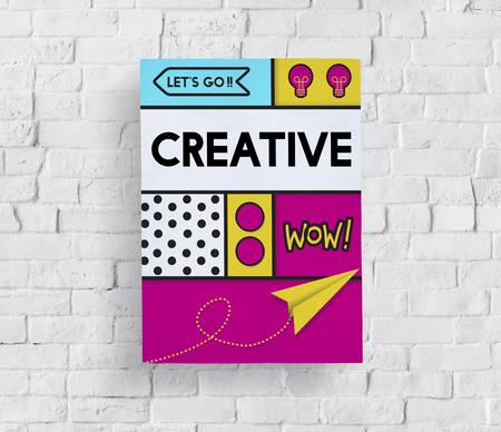 Creatieve artistieke popart afbeelding