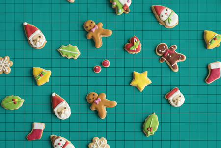 christmas cake: Gingerbread Christmas Decorated Cookies