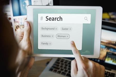 Search engine box random concept