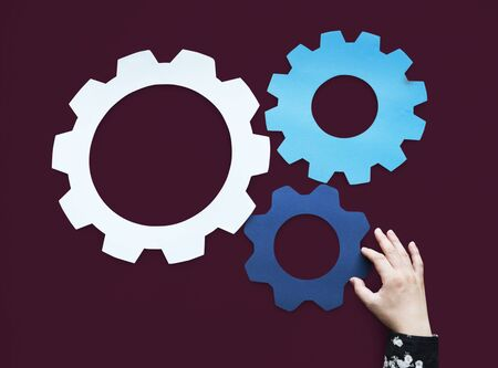 Gear Edit Setting Symbol Management Stok Fotoğraf