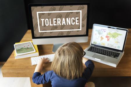 Zufriedene Spirit Tolerance Nachsicht Stimmung Standard-Bild - 79108955