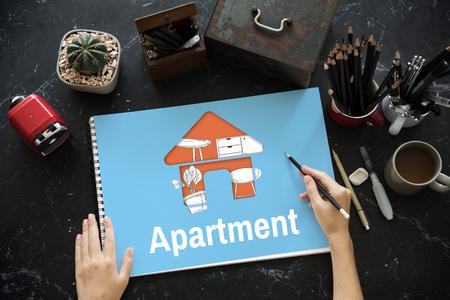 Apartment Home Your Space Decoration Renovation Style Reklamní fotografie