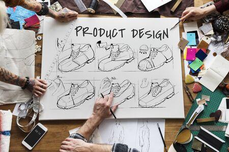 Production de chaussures dessin esquisse de procédure Banque d'images - 78949895