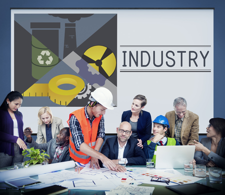 building sector: Business Industry Manufacturing Factory Concept Stock Photo
