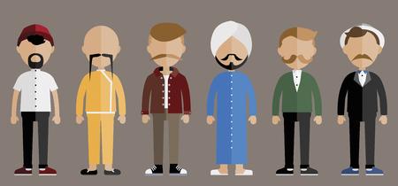 Movember 캠페인 전립선 암 지원 개념
