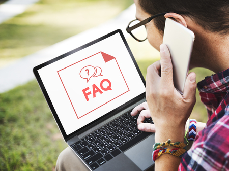 Faq Frequently Asked Questions Customer Service Фото со стока